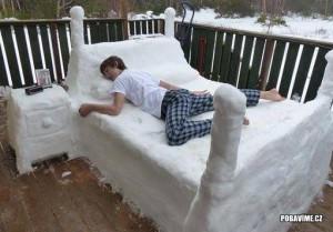 Zimní postel